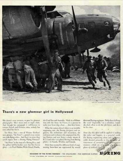 "Wwii Boeing Flying Fortress ""New Glamour Girl"" (1943)"