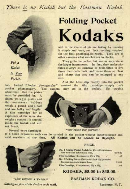 Kodak's Folding Pocket cameras – Folding Pocket Kodaks (1899)
