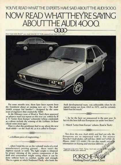 "Audi 4000 ""Nothing Even Comes Close"" Car (1979)"