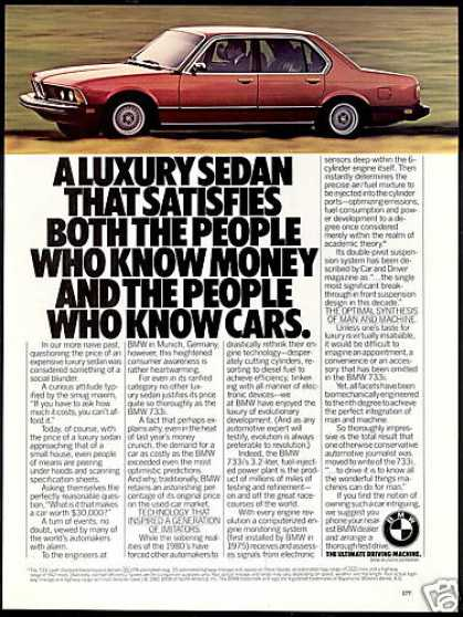 BMW 733i Luxury Sedan Car Photo (1981)