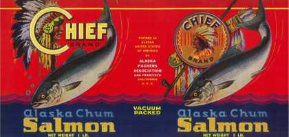 Chief Salmon Can Label – San Francisco, CA
