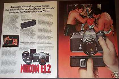 Boxing Photo Nikon El2 Camera W Auto-winder (1977)