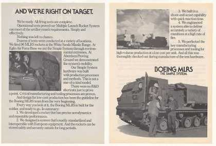 Boeing MLRS Multiple Launch Rocket System 4-Pg (1980)