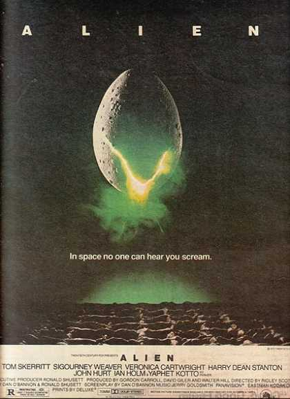 "Alien (""In space no one can hear you scream"") (1979)"