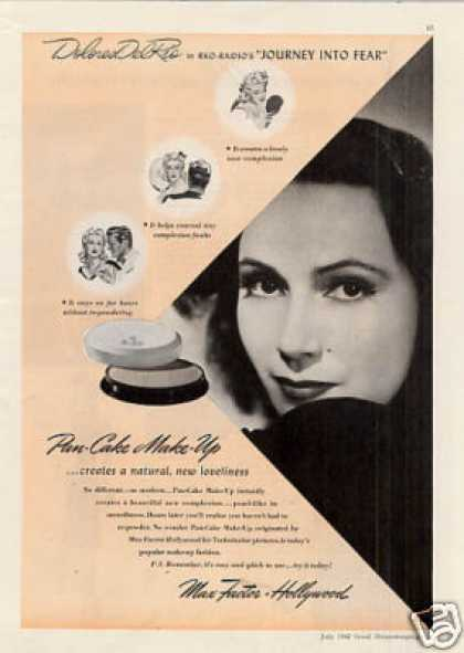 Max Factor Make-up Ad Dolores Del Rio (1942)
