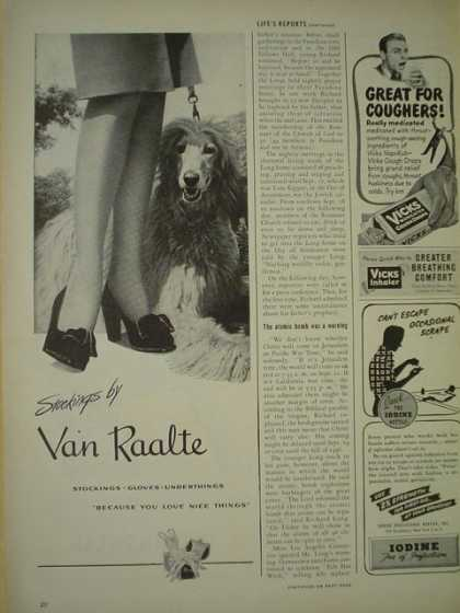 Van Raalte Stockings Sheepdog theme (1945)