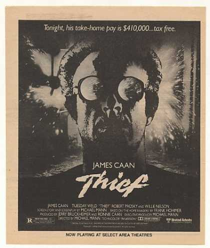 James Caan Thief Movie Vintage (1981)