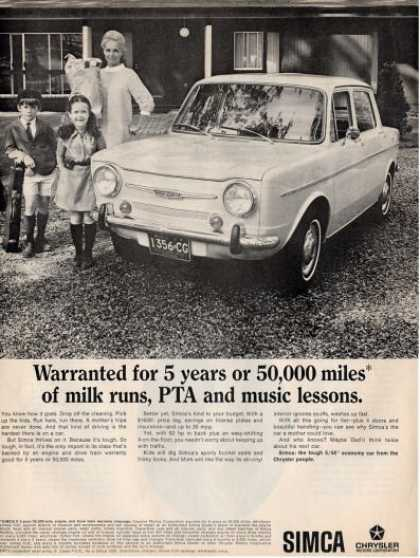 Chrysler Simca Economy Car Ad T (1967)