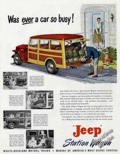 Jeep Station Wagon Art & Photos Large Color (1949)
