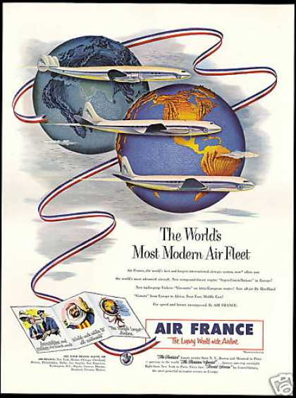 Air France Airlines Modern Air Fleet (1953)