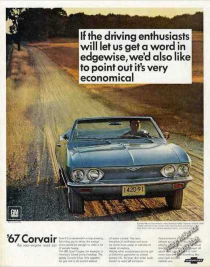 Chevrolet Corvair Convertible Nice Photo (1967)