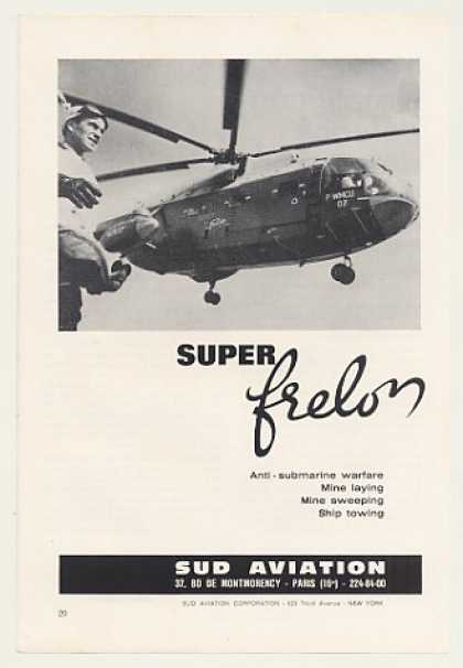 Sud Aviation Super Frelon Helicopter Photo (1966)