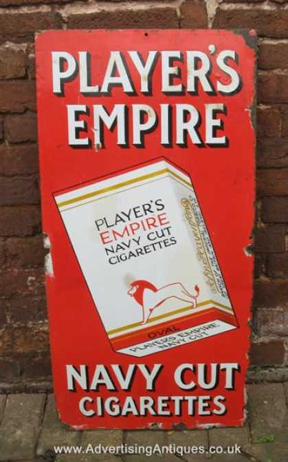Player's Empire Navy Cut Cigarettes Sign