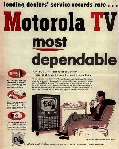 Motorola's Various – Leading dealers' service records rate... . (1951)