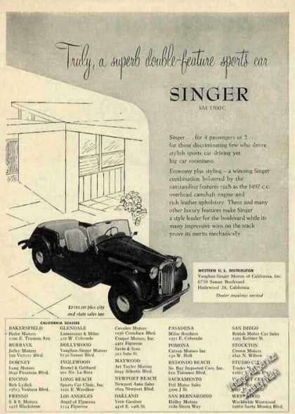 Singer Sm 1500c Photo Nice Car (1954)