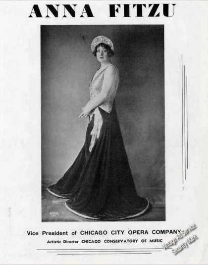 Anna Fitzu Photo Vp Chicago City Opera Feature (1939)