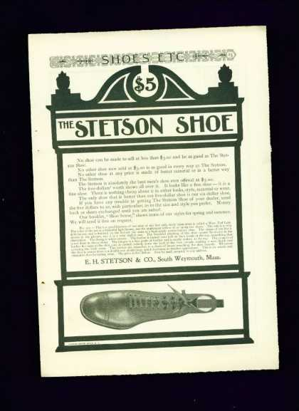 The Stetson Shoe for $5.00 C Art Nouveau Style (1910)