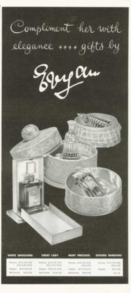 Evyan Shoulders Great Lady Precious Perfume (1961)