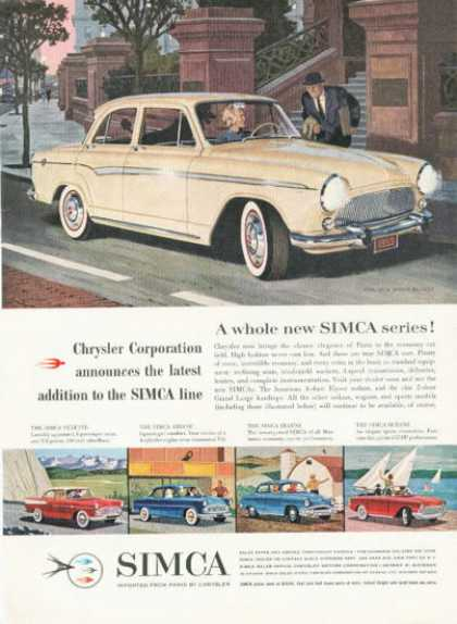 Chrysler Simca Series 5 Models (1959)