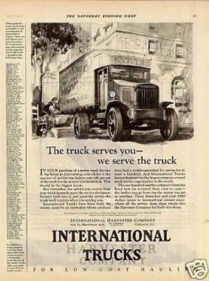"International Truck Ad ""The Truck That Serves... (1925)"