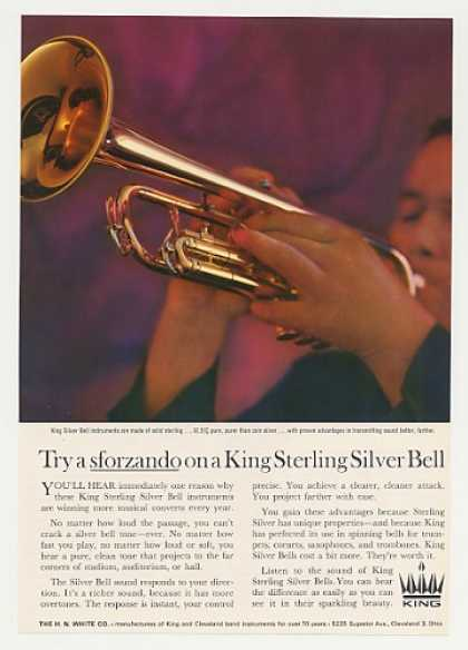 King Sterling Silver Bell Trumpet Photo (1964)