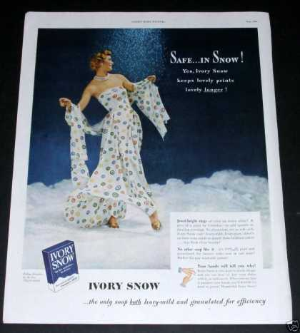Ivory Snow, Safe... In Snow (1949)