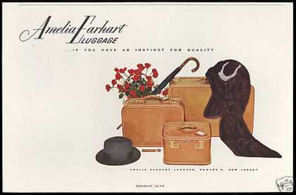 Amelia Earhart Luggage Instinct For Quality (1953)