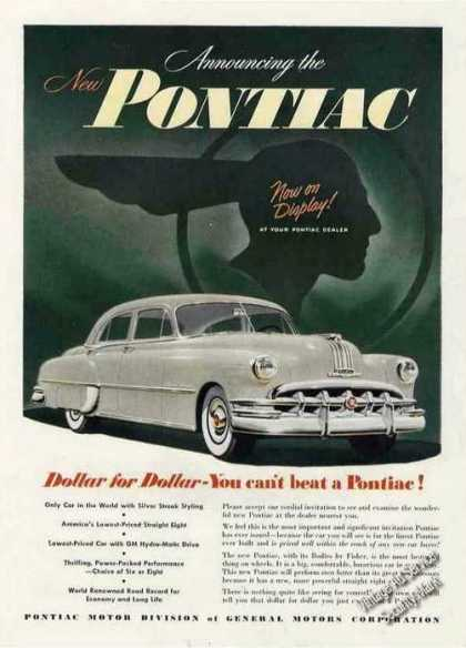 Announcing the New Pontiac Collectible Car (1950)