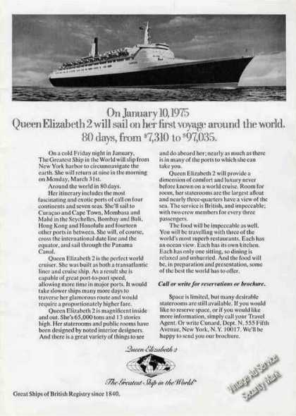 Queen Elizabeth 2 First Voyage Around the World (1974)