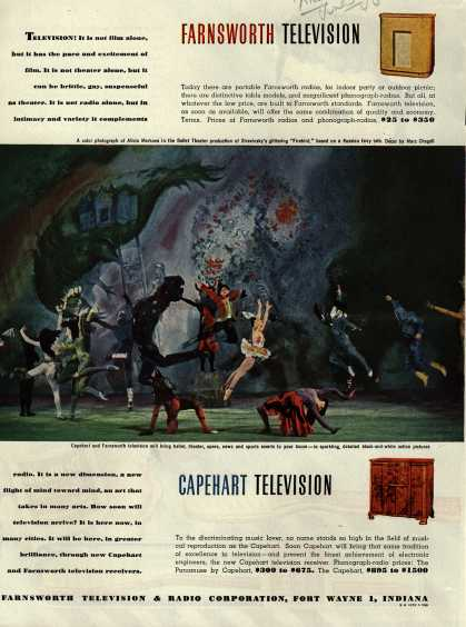 Farnsworth Television and Radio Corporation's various – Farnsworth Television Capehart Television (1946)