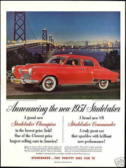 Studebaker Commander State 4dr Sedan Car Photo (1951)