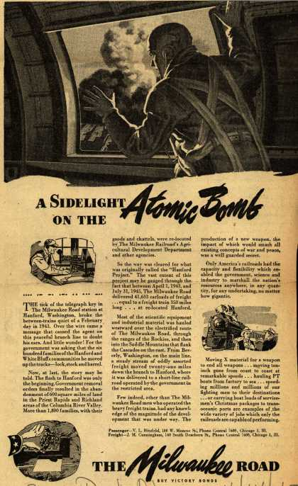 Milwaukee Road's Chicago and North Western System – A Sidelight On The Atomic Bomb (1945)