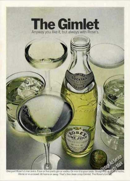 "The Gimlet ""Always With Rose's Lime Juice"" (1972)"