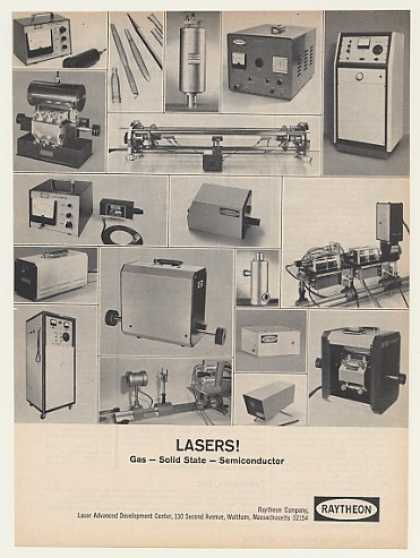 Raytheon Gas Solid State Semiconductor Lasers (1964)