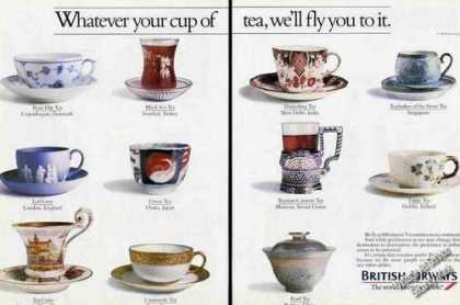 Unique Teacups & Local Tea (11 Different) (1986)