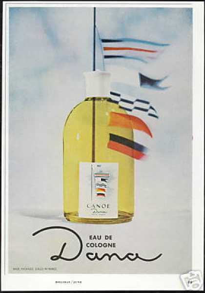 Dana Canoe Eau De Cologne Bottle Photo (1966)