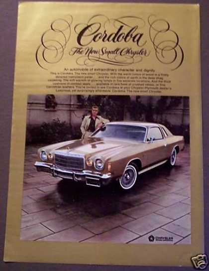 Gold Chrysler Cordoba Car Auto (1975)