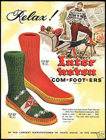 Inter Woven Comfooters Sock Moccasin Interwoven (1951)