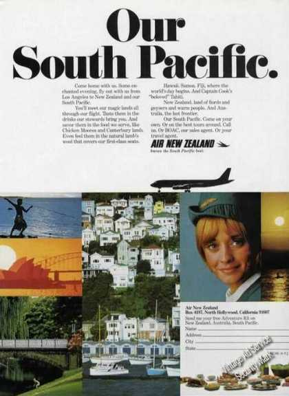 Air New Zealand Our South Pacific Photos (1972)