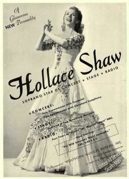 Hollace Shaw Photo Concert/state/r (1947)