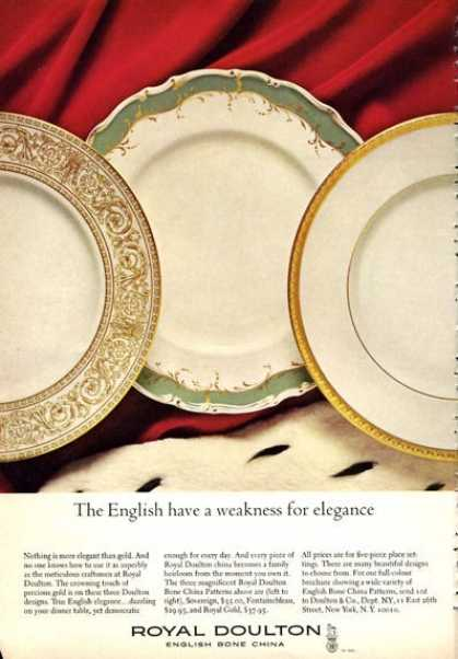 Royal Doulton English Bone China 3 Patterns (1966)