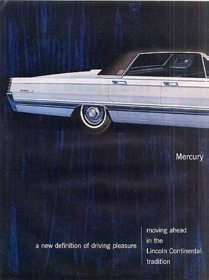 Mercury Car Ad 2 Page (1966)