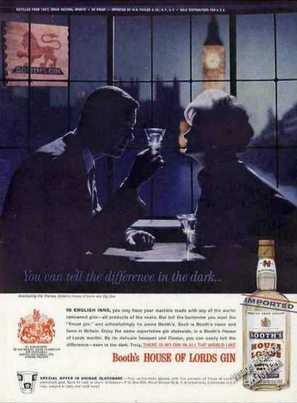 Booth's House of Lords Gin Romantic Couple (1961)