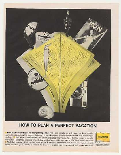 Telephone Yellow Pages Plan a Perfect Vacation (1961)