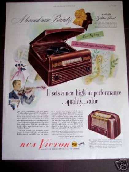Rca Victor Radio Phonograph Record Player (1948)