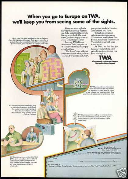 TWA Airlines Europe Tours (1969)