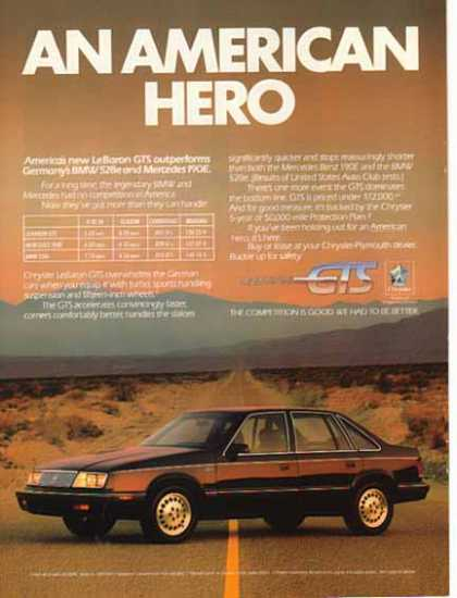 Chrysler Car – Le Baron GTS TURBO / Black (1986)