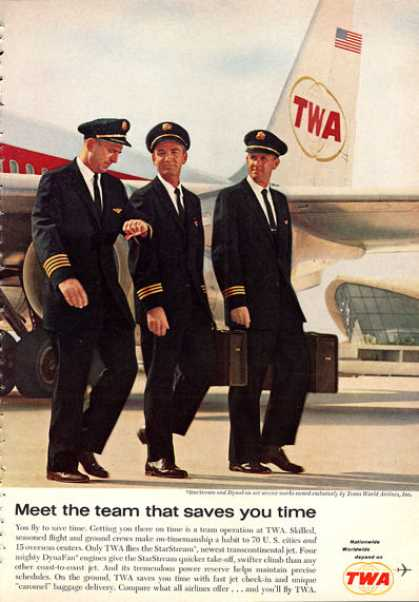 Twa Starstream Pilot Flight Crew Uniform (1962)