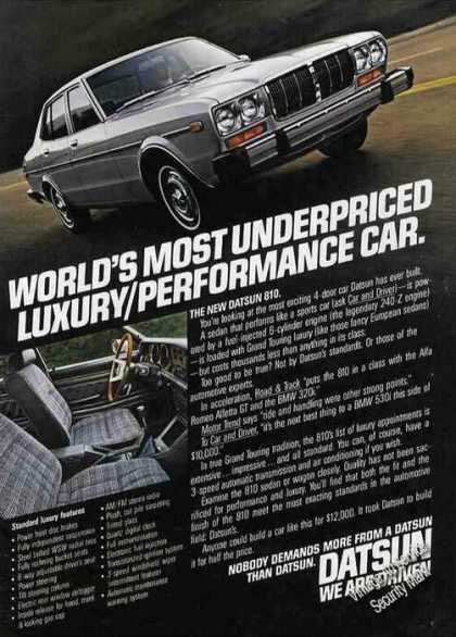 "Datsun 810 Photos ""Luxury/perform (1978)"