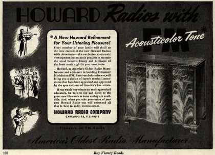Howard Radio Company's Radio – Howard Radios with Acousticolor Tone (1945)